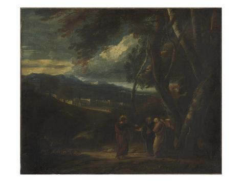 Le christ au jardin des oliviers avec saint giclee print for Au jardin des oliviers