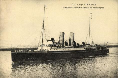 Le Havre, Normannia, Steamer, Southern Railway Giclee Print
