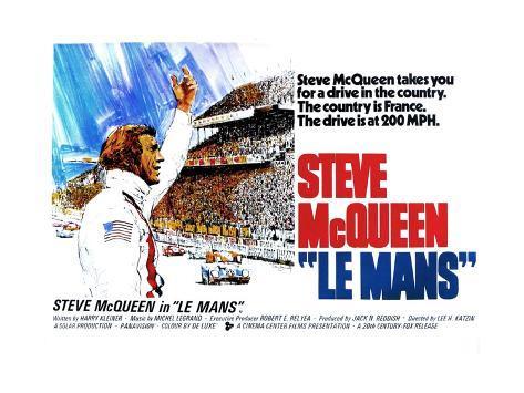 Le Mans, Steve McQueen, 1971 Impressão artística