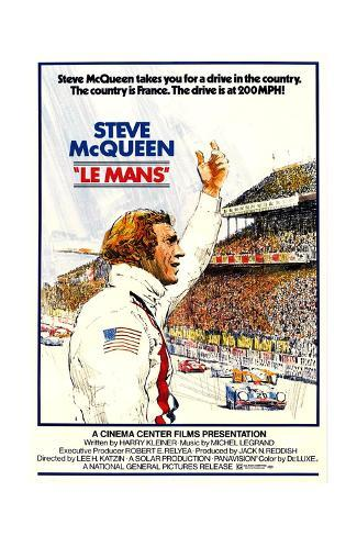 Le Mans, Steve McQueen, 1971 Art Print