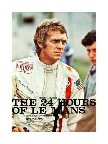 Le Mans, Steve McQueen on Japanese poster art, 1971 Art Print