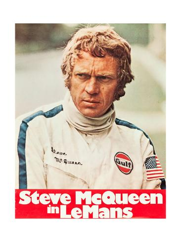 Le Mans, Steve McQueen on poster art, 1971 Art Print
