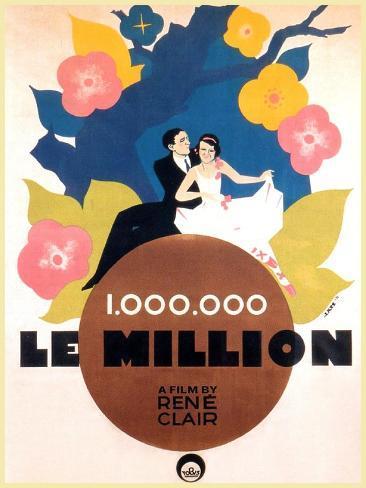 Le Million, Rene Lefevre, Annabella, French poster art, 1931 Art Print