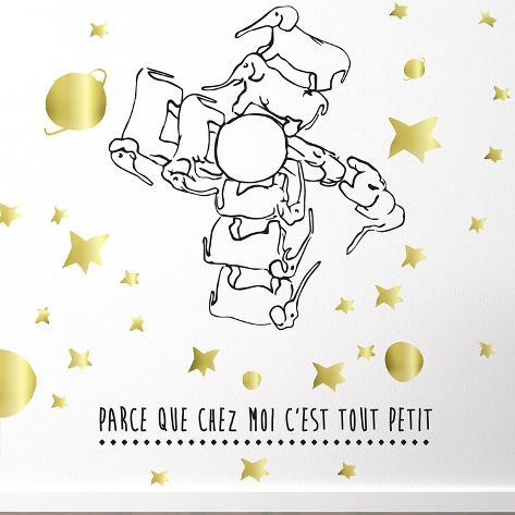 Le Petit Prince - Chez Moi C'Est Tout Petit Wall Decal