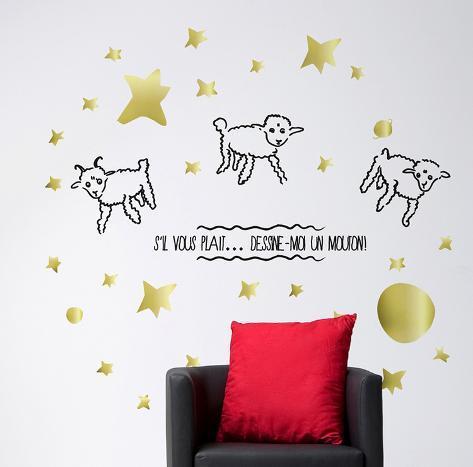 Le Petit Prince - Dessine-Moi Un Mouton 1 Wall Decal - Allposters