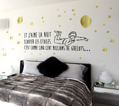 Le Petit Prince - Écouter Les Étoiles (Sticker Murale