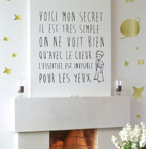 Le Petit Prince - Le Secret Wall Decal - Allposters.Co.Uk