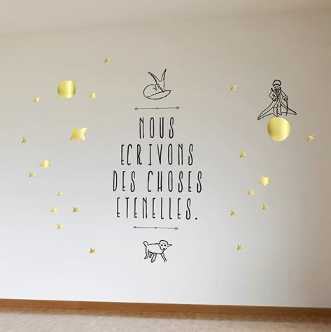 Le Petit Prince - Nous Écrivons Des Choses Éternelles Wall Decal
