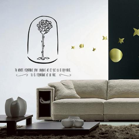 le petit prince ta rose wall decal. Black Bedroom Furniture Sets. Home Design Ideas