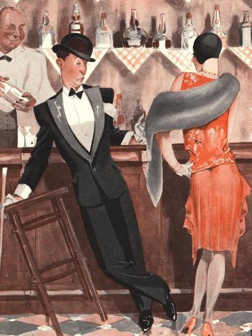 Le Sourire, Cocktails Magazine, France, 1920 Stampa giclée