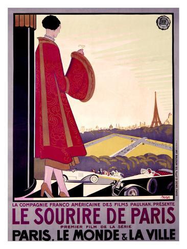 Le Sourire de Paris Giclee Print