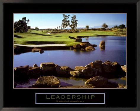 Leadership: Golf Framed Art Print