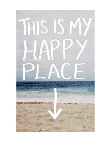 this is my happy place beach art by leah flores at allposters com au