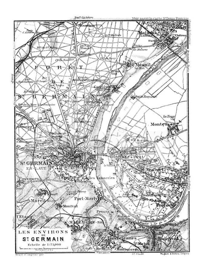 Paris Map Black And White.Vintage Paris Map Print By Lebens Art At Allposters Com