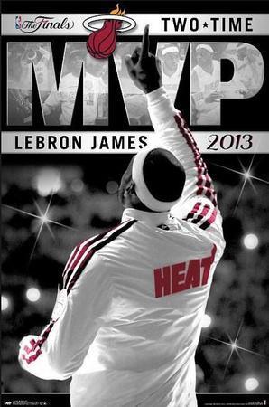 Lebron James Miami Heat 2013 Nba Finals Mvp Sports Poster