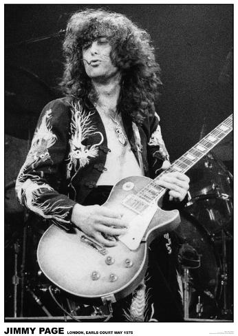 Led Zeppelin - Jimmy Page - Earls Court 1975 Póster