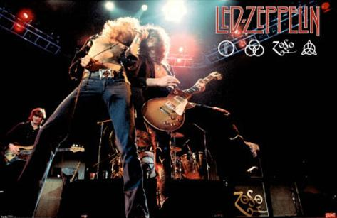 Led Zeppelin (Live on Stage) Music Poster Print Poster