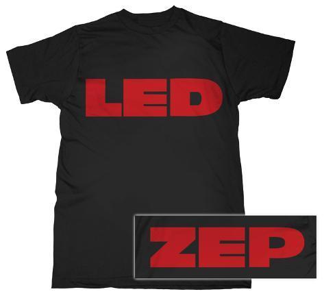 Led Zeppelin - Red Logo T-Shirt