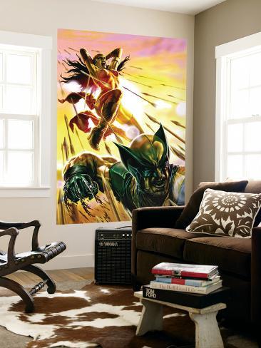 Dark Reign: Elektra No.4 Cover: Elektra and Wolverine Wall Mural