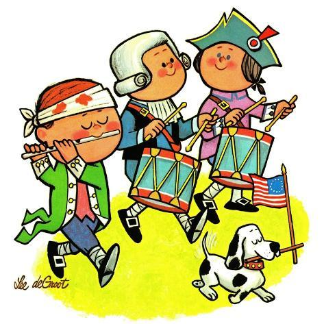 Colonial Marching Band - Jack & Jill Giclee Print