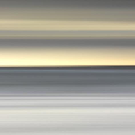 Abstract Image of the View from Alnmouth Beach to the North Sea, Alnmouth, England, UK Photographic Print