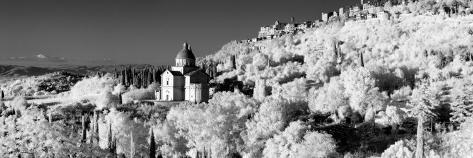 Infrared Panorama of Church of San Biagio, Montepulciano, Tuscany, Italy, Europe Photographic Print