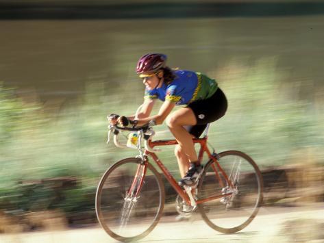 Biking in Vail, Colorado, USA Photographic Print