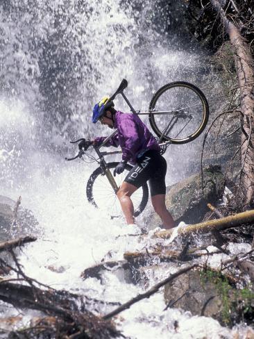 Mountain Biking, Vail, Colorado, USA Photographic Print