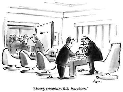 masterly presentation r b pure theatre new yorker cartoon