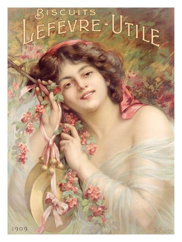 Lefevre-Utile Biscuits, Sara Bernhard Giclee Print