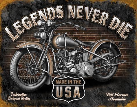 Legends - Never Die Carteles metálicos