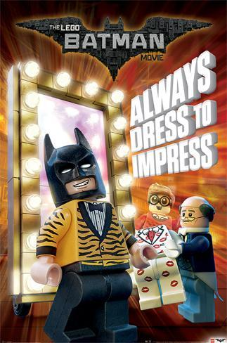 Lego Batman- Always Dress To Impress Poster