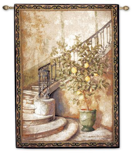 Lemon Stairwell Wall Tapestry