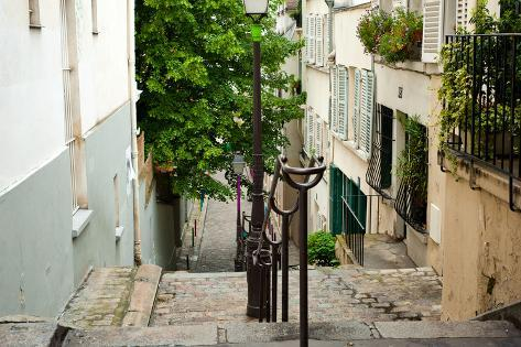 One of the Street in Montmartre, Paris, France Photographic Print