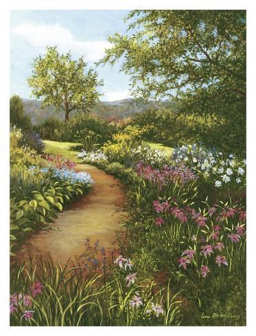 Hilltop Garden Art Print