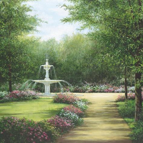 Park Fountain Art Print