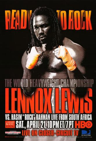 Lennox Lewis Vs. Hasim Rock Rahman Masterprint