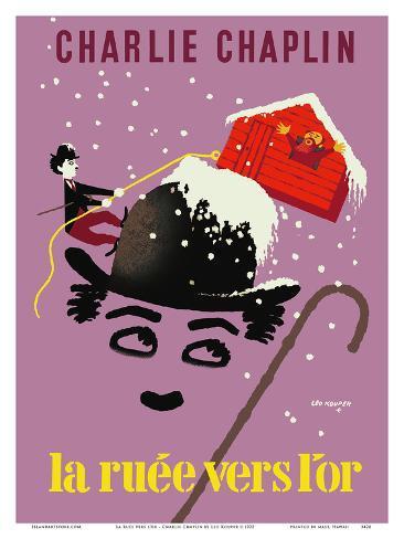 La corsa all'oro - Charlie Chaplin Stampa artistica