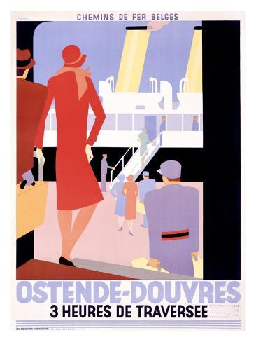 Ostende-Douvres Giclee Print