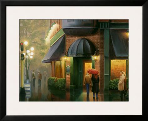 Rainy Day Pub Framed Art Print