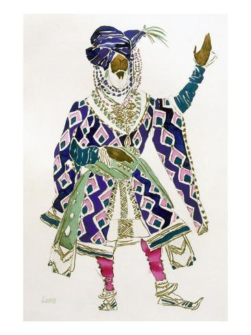 Costume Design for a Sultan (W/C on Paper) Giclee Print