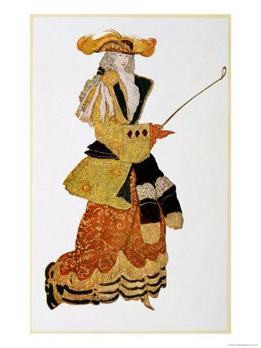 Costume Design for the Marchioness Hunting, from Sleeping Beauty, 1921 Giclee Print