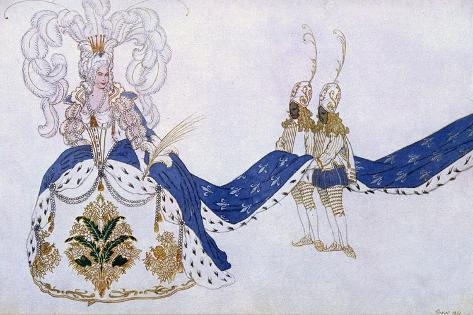 Costume Design for the Queen and Her Pages, from Sleeping Beauty, 1921 Giclee Print