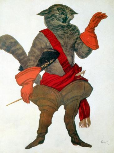 Puss in Boots, from Sleeping Beauty, 1921 Giclee Print