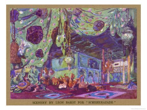 Scheherazade Set Design by Leon Bakst Giclee Print