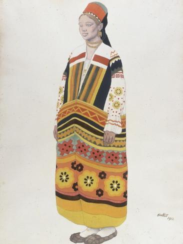 Young Peasant Girl, 1922 Lámina giclée