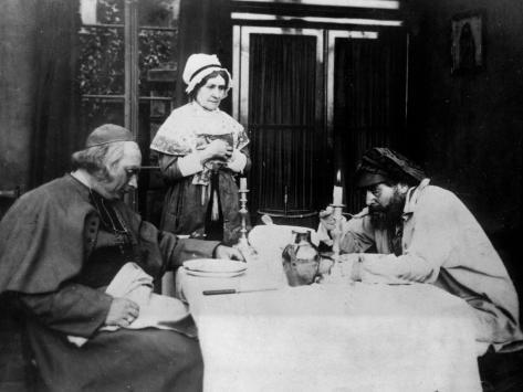 Léon Bernard and Henry Krauss: Les Miserables, 1913 Photographic Print