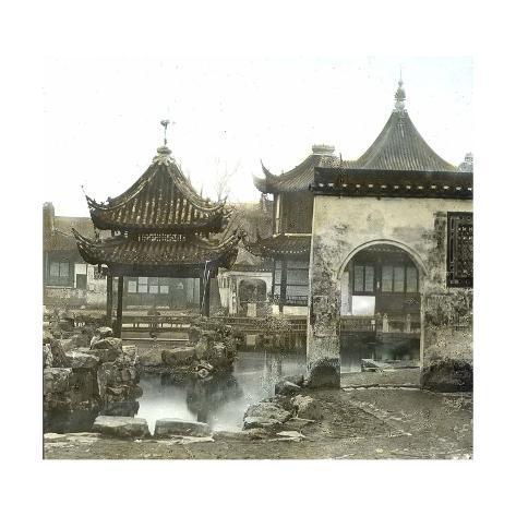 Shanghai (China), Mandarin Lyn's Yu Yuan Garden, Circa 1860 Photographic Print