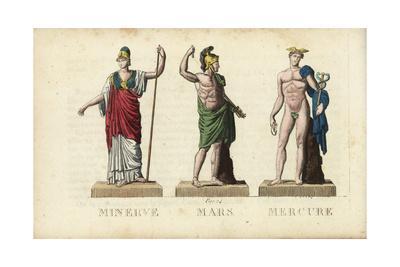 Minerva, Mars, and Mercury, Roman Gods Giclee Print by ...