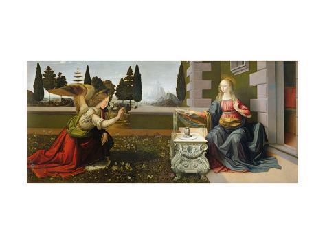Annunciation, 1472-75 Giclee Print